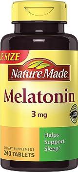 240-Count Nature Made Melatonin 3mg Tablets