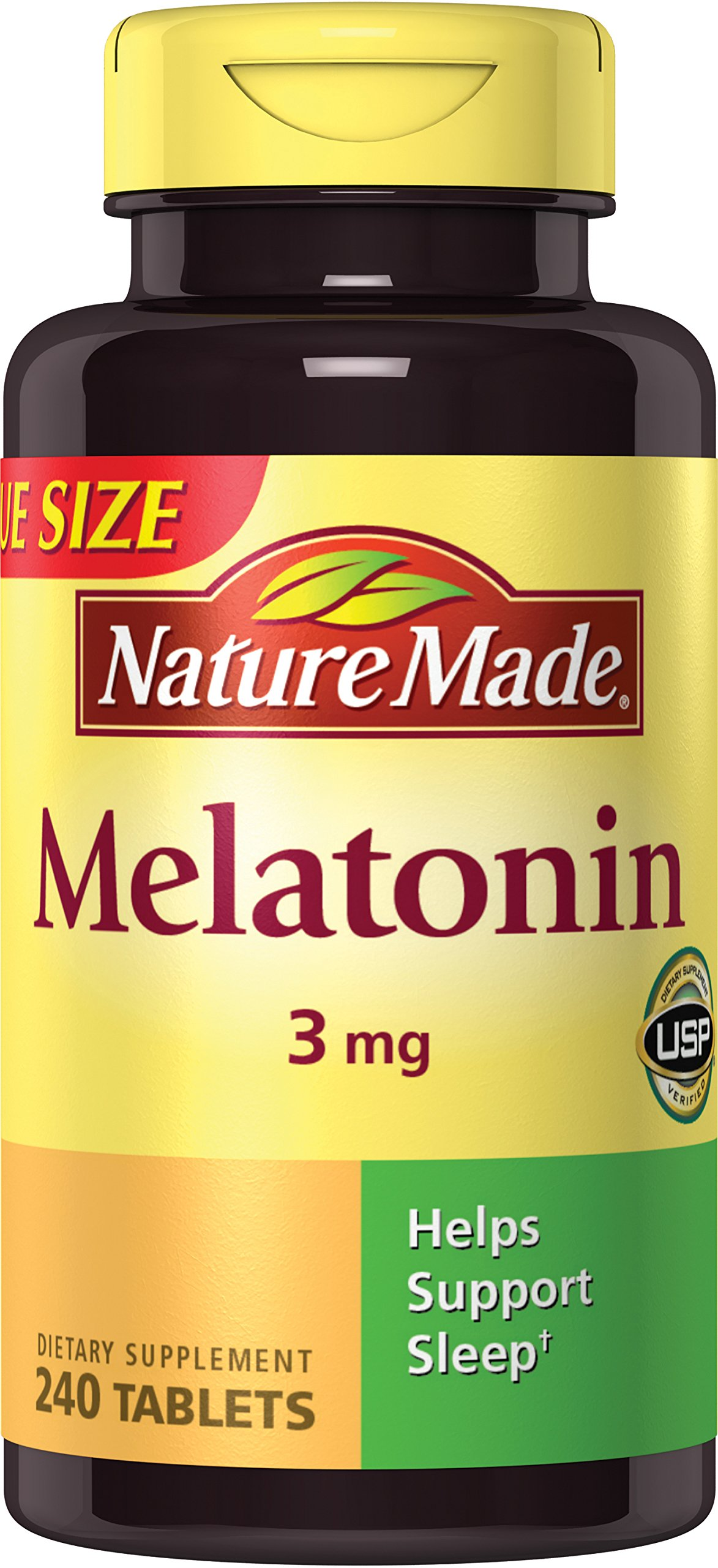 Nature Made Melatonin 3 mg Tablets Value Size 240 Ct product image