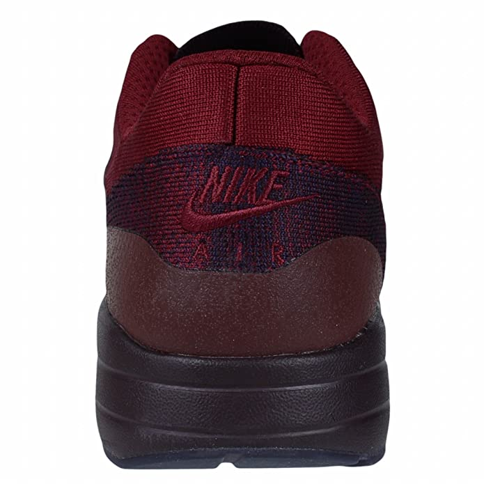 Nike Air Max 1 Ultra Flyknit Running Shoe, Grand PurpleTeam Red, 11.5