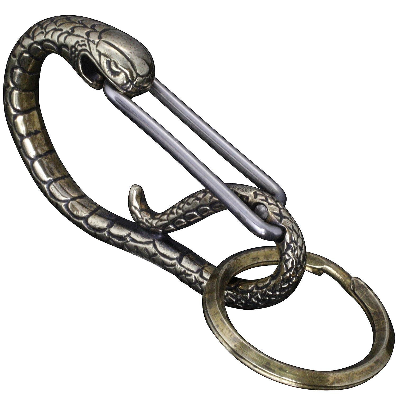 [龍頭] 真鍮製 蛇 カラビナ メンズ B00BULCN4E