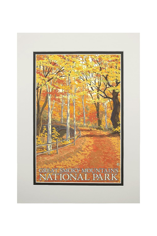 堅実な究極の グレートスモーキー山脈国立公園 Art、テネシー州 – Fall Colors 12 x 18 Art x Colors Print LANT-46494-12x18 B06XZY7G51 11 x 14 Matted Art Print 11 x 14 Matted Art Print, タテヤママチ:d8428233 --- arianechie.dominiotemporario.com