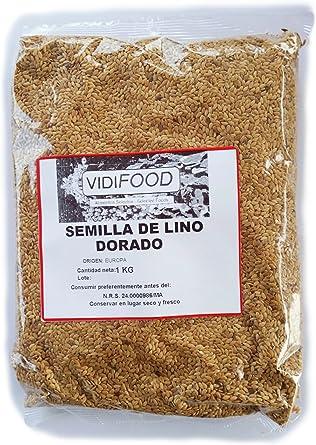 Semillas de Lino Dorado - 1kg: Amazon.es: Alimentación y bebidas