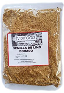 Linaza, entera, natural 1 kg, bolsa resellable: Amazon.es ...