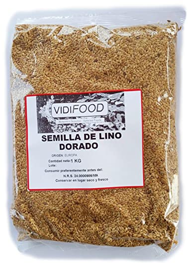 Semillas de Lino Dorado - 1kg - Rica fuente de ácidos grasos Omega 3, fibra