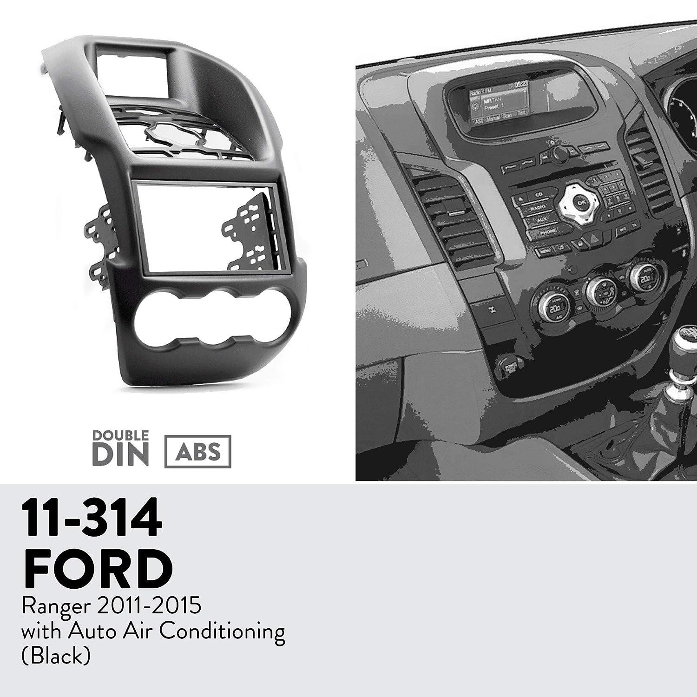 UGAR 11-314 Kit de Panel Frontal de instalaci/ón de Tablero de Radio DIN Doble para Ford Ranger 2011-2015