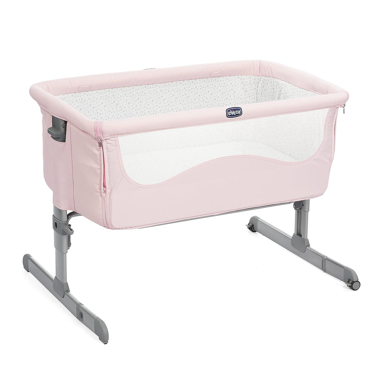 Cuna de colecho con anclaje a cama y 6 alturas Chicco Next2me color rosa