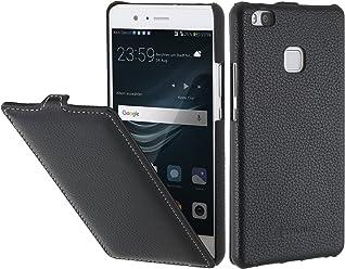 StilGut UltraSlim Case, Custodia in Pelle per Huawei P9 Lite, Nero