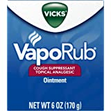 Vicks VapoRub Soothing Chest Rub Cough Suppressant Ointment, 6 Oz (Pack of 2)