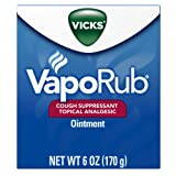 Vicks VapoRub Soothing Chest Rub Cough Suppressant, 6 Oz
