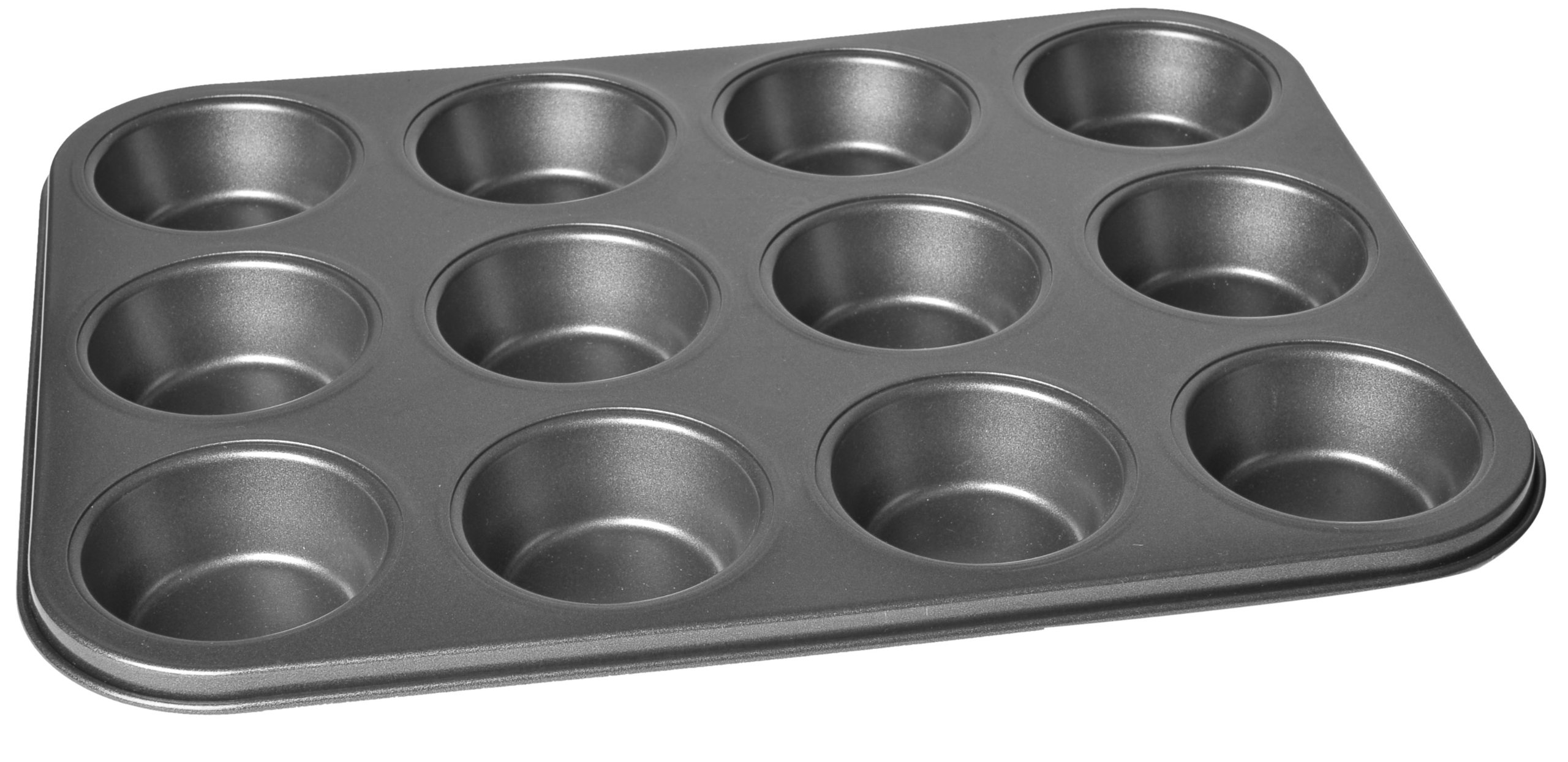 Chloe's Kitchen 201-109 Muffin Pan, 12-Cavity, Non-Stick