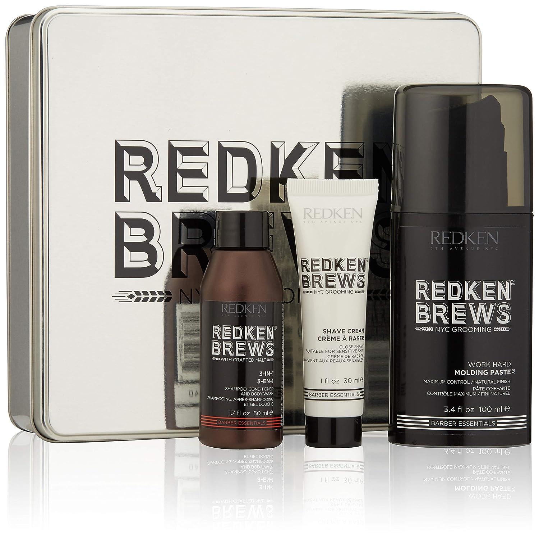 Redken Brews Rough It Up Texture Finish Grooming Kit For Men