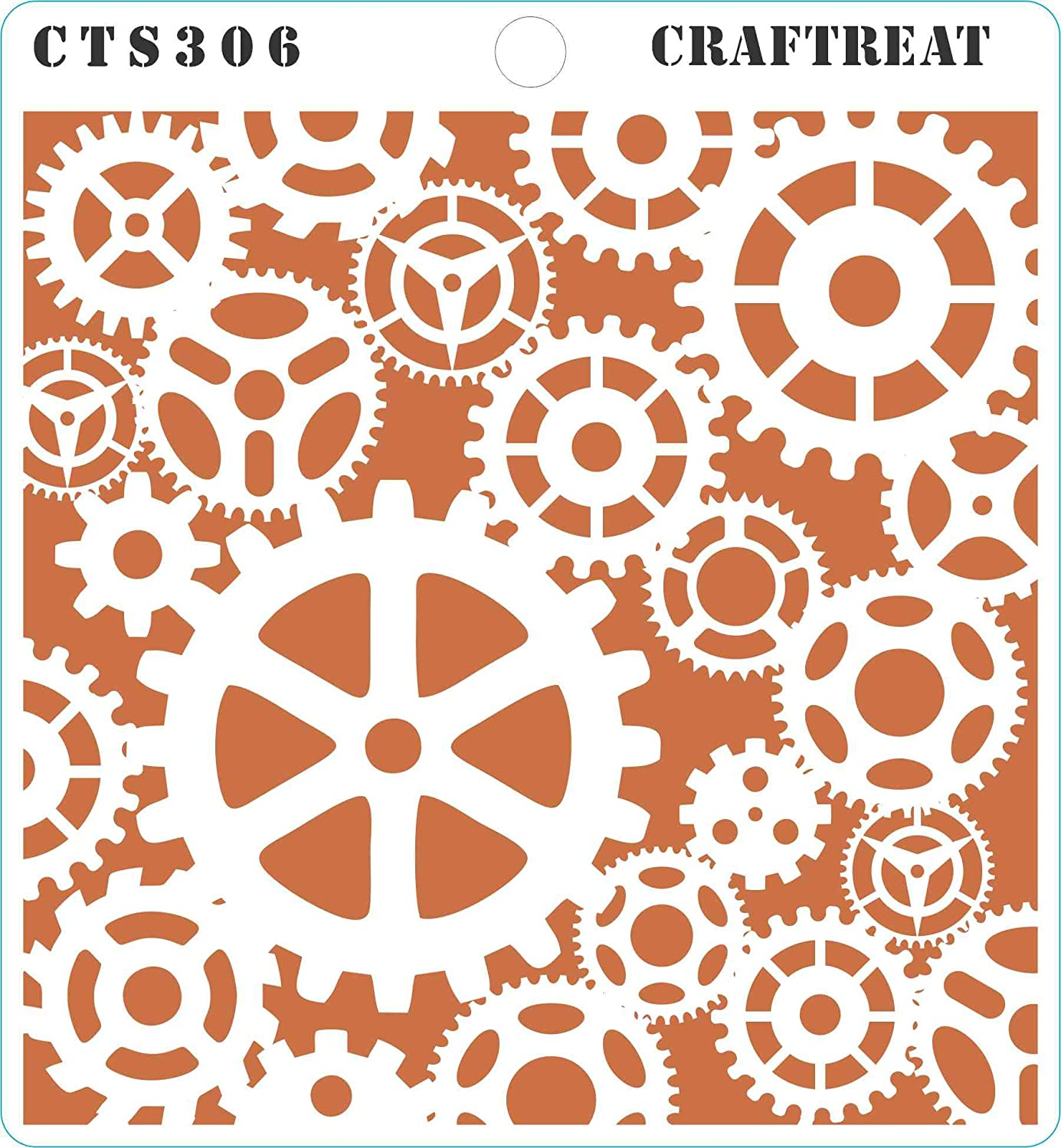 Grunge /& Newsprint Postal Wall Tile 4 pcs CrafTreat Stencil Fabric Scratches DIY Albums and Printing on Paper | Reusable Painting Template for Home Decor Wood 6X6 Crafting