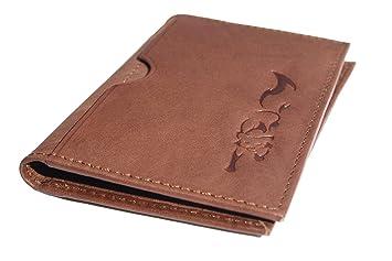 RFID Cartera de cuero de diseño para hombre de Reynard. Una cartera de bolsillo delantera delgada, minimalista.: Amazon.es: Equipaje
