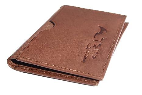 RFID Cartera de cuero de diseño para hombre de Reynard. Una cartera de bolsillo delantera