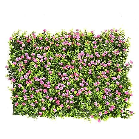 Siepe artificiale, Set of 6 pianta artificiale, erba, fiore, foglia ...