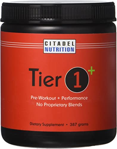 Tier 1 Plus Preworkout Performance Supplement 387g