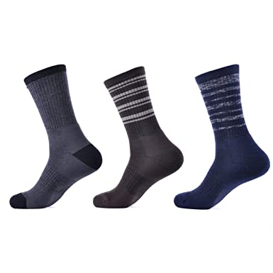 SOLAX Mens Merino Wool Sport Socks Hombre Hiking Sock Quarter Calcetines 3 Pairs a Pack (