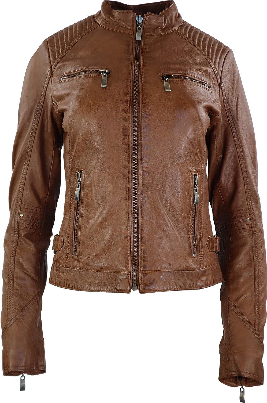 3127 von RICANO stylische Damen Lederjacke aus Lammnappa Leder in vielen Farben