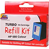 Turbo refill kit for HP 680 coIour ink cartridge