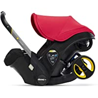 Doona Infant Car Seat & Latch Base - Car Seat to Stroller in Seconds - Flame Red, US Version