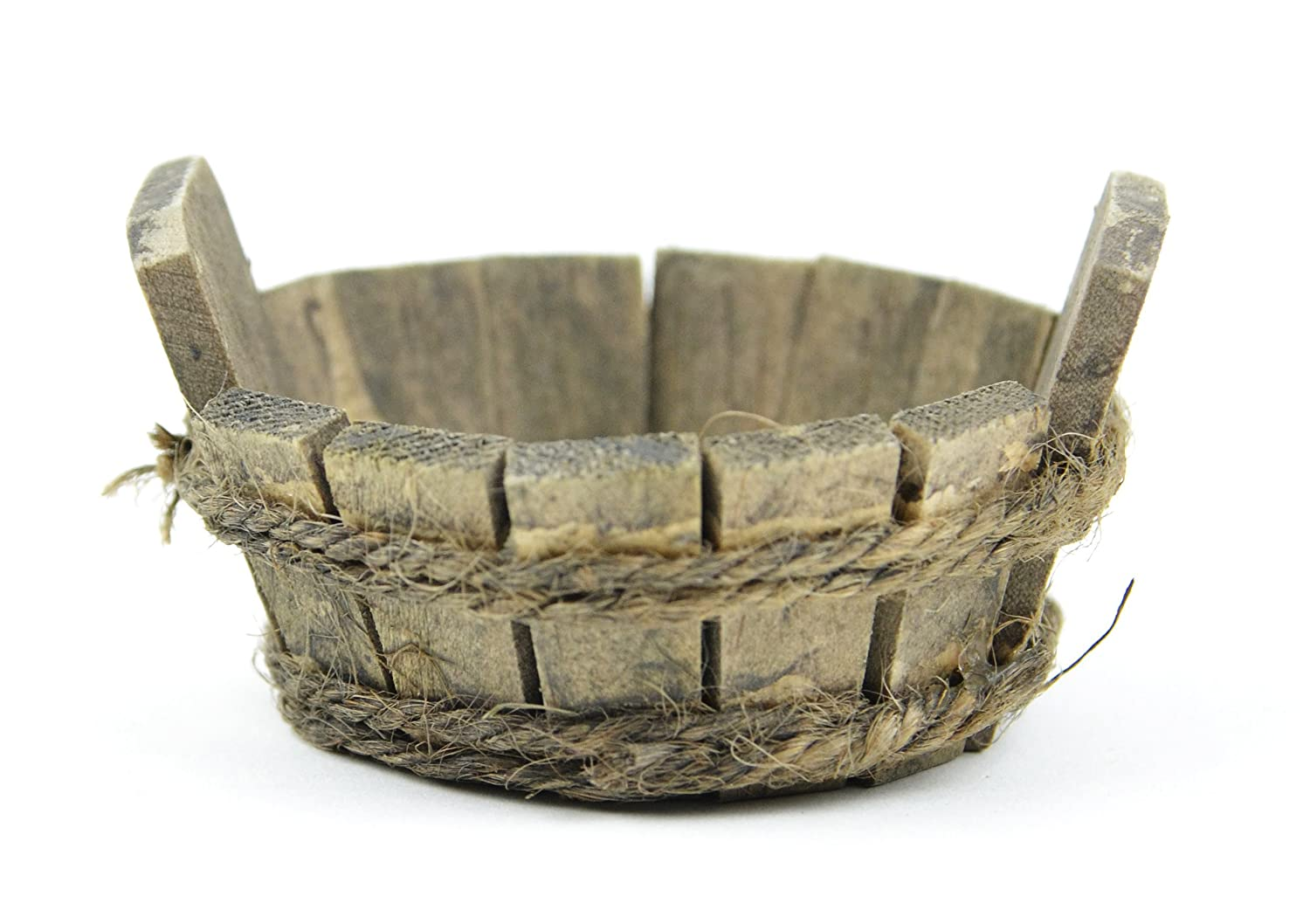 """Touch of Nature Mini Fairy Garden Wooden Tub, 1.5""""X3""""X3"""", Wood"""