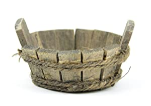"Touch of Nature Mini Fairy Garden Wooden Tub, 1.5""X3""X3"", Wood"