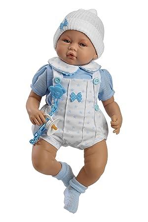 Amazon.es: Muñecas Guca - Muñeco Samuel, sin Sonido, 46 cm, con Pelele Blanco y Camisa Azul (536): Juguetes y juegos