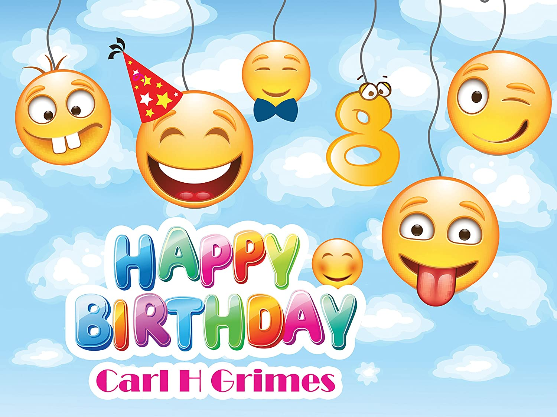 Custom Home Decor Balloon Emoji Birthday Poster For Kids Jpg 1500x1125 Happy Smiley Animated