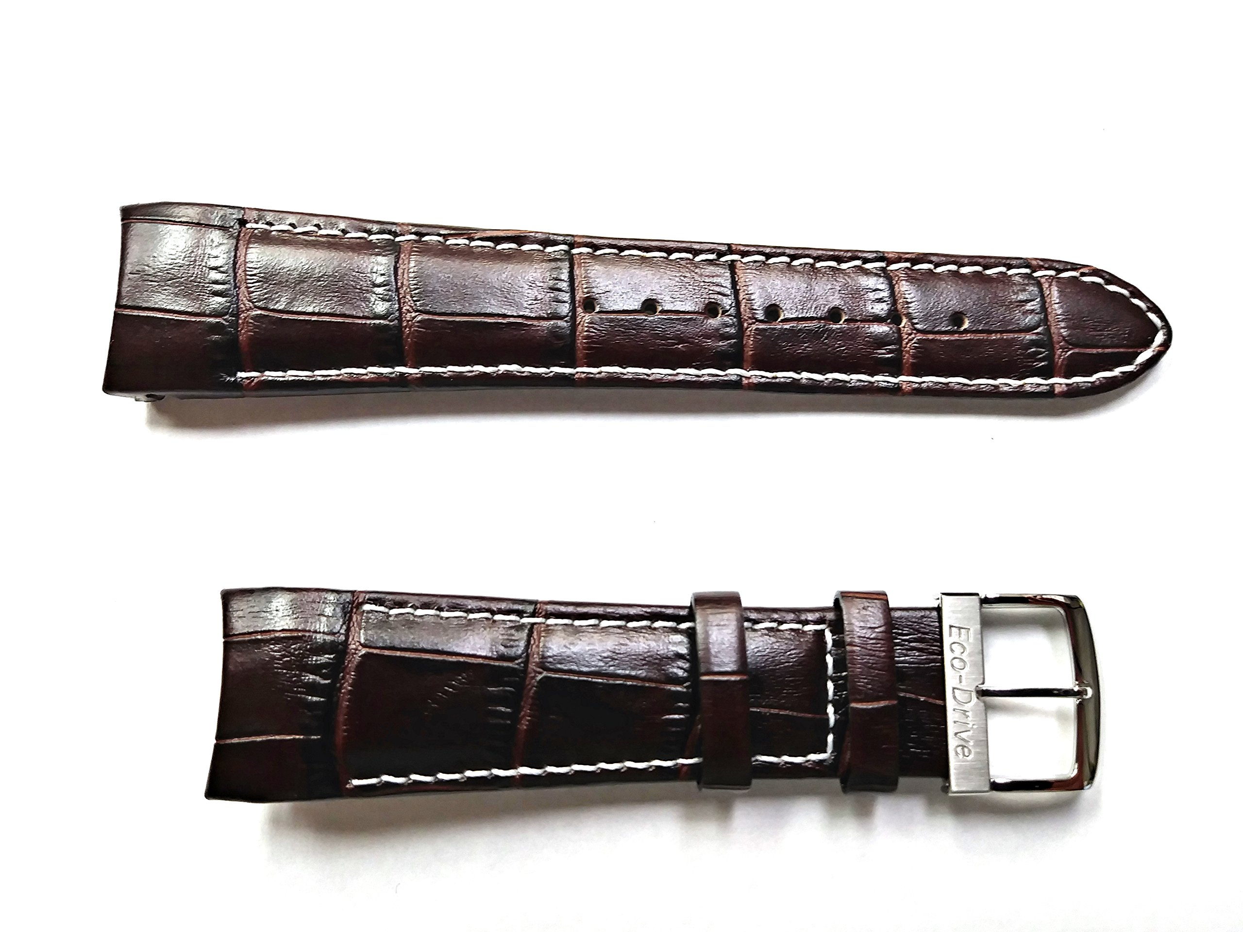 59-S51439 ORIGINAL GENUINE Citizen Chandler BROWN Leather Watch Band for Men's Eco-Drive Chronograph Watch AT0550-11X