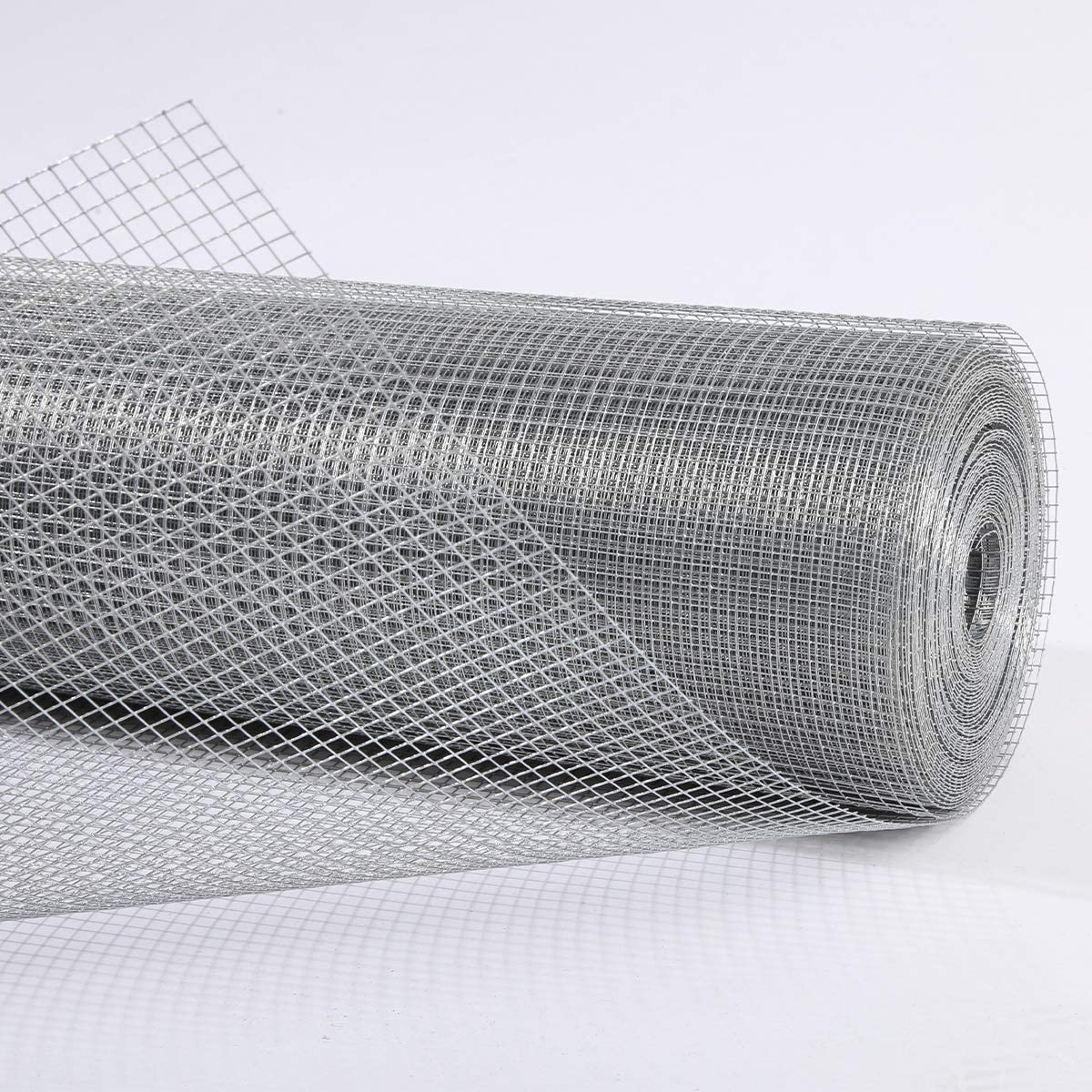 Nueve Deer Hardware Cloth 36inx100ft 1/4 Inch Opening 23 Gauge Galvanized After Welding, Chicken Coops,Garden Plant Supports,Tree Guards, Animal Cage