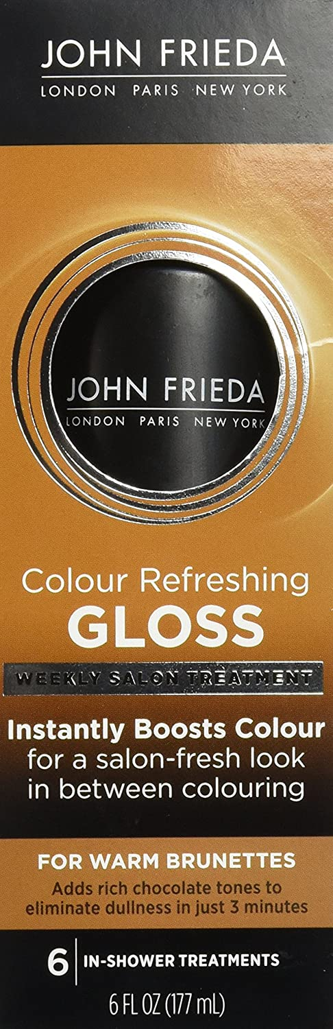 amazoncom john frieda colour refreshing gloss cool brunette 6 ounce hair highlighting products beauty - Color Refreshing Gloss