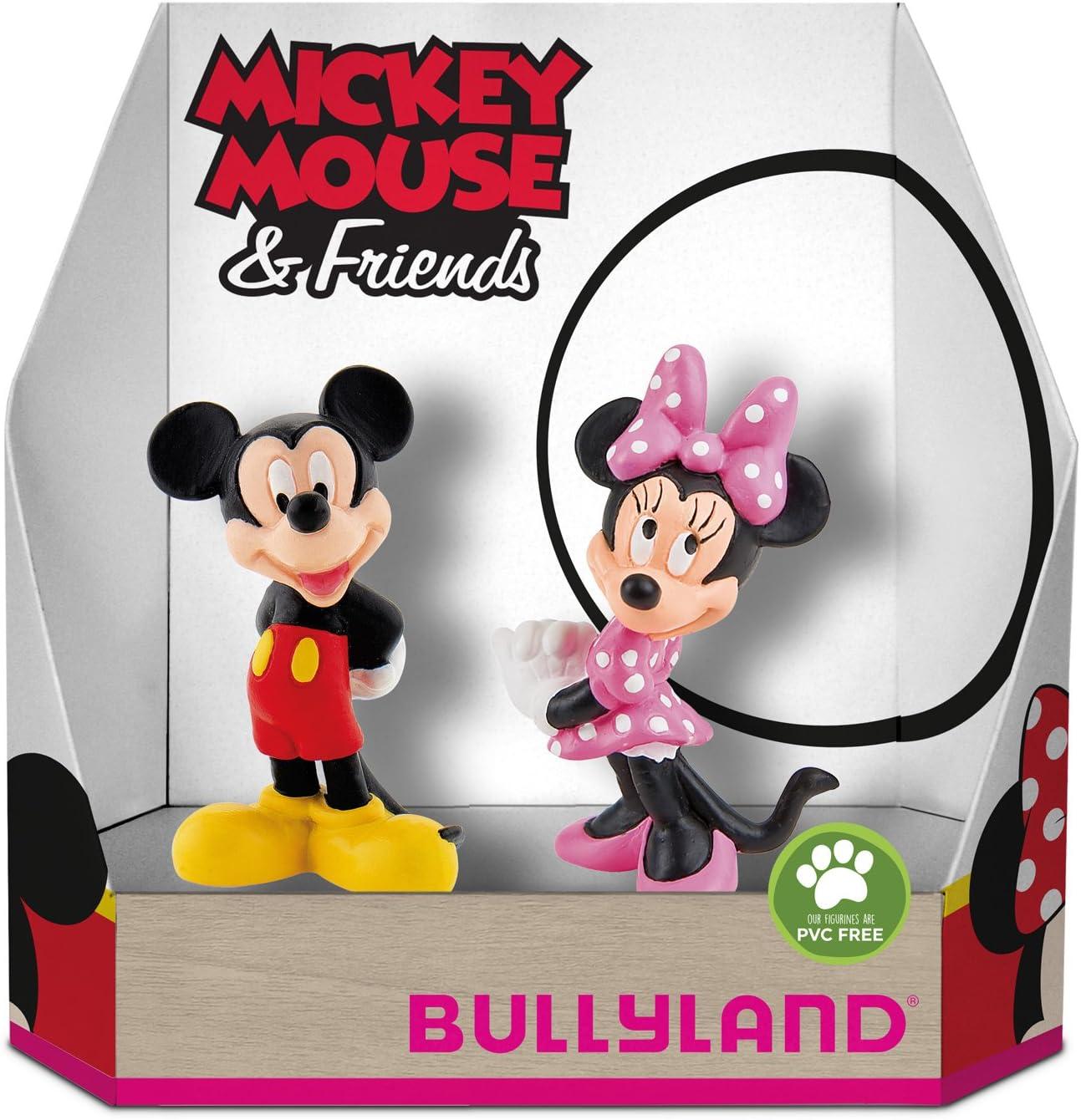 Bullyland 15083 – Disney Mickey y Minnie Classic en caja de regalo parte Figura set, 2 piezas: Amazon.es: Juguetes y juegos