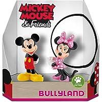 Bullyland 15083 – Juego de Figuras de Disney Mickey y Minnie en Caja de Regalo, 2 Piezas, Figuras pintadas a Mano, sin…