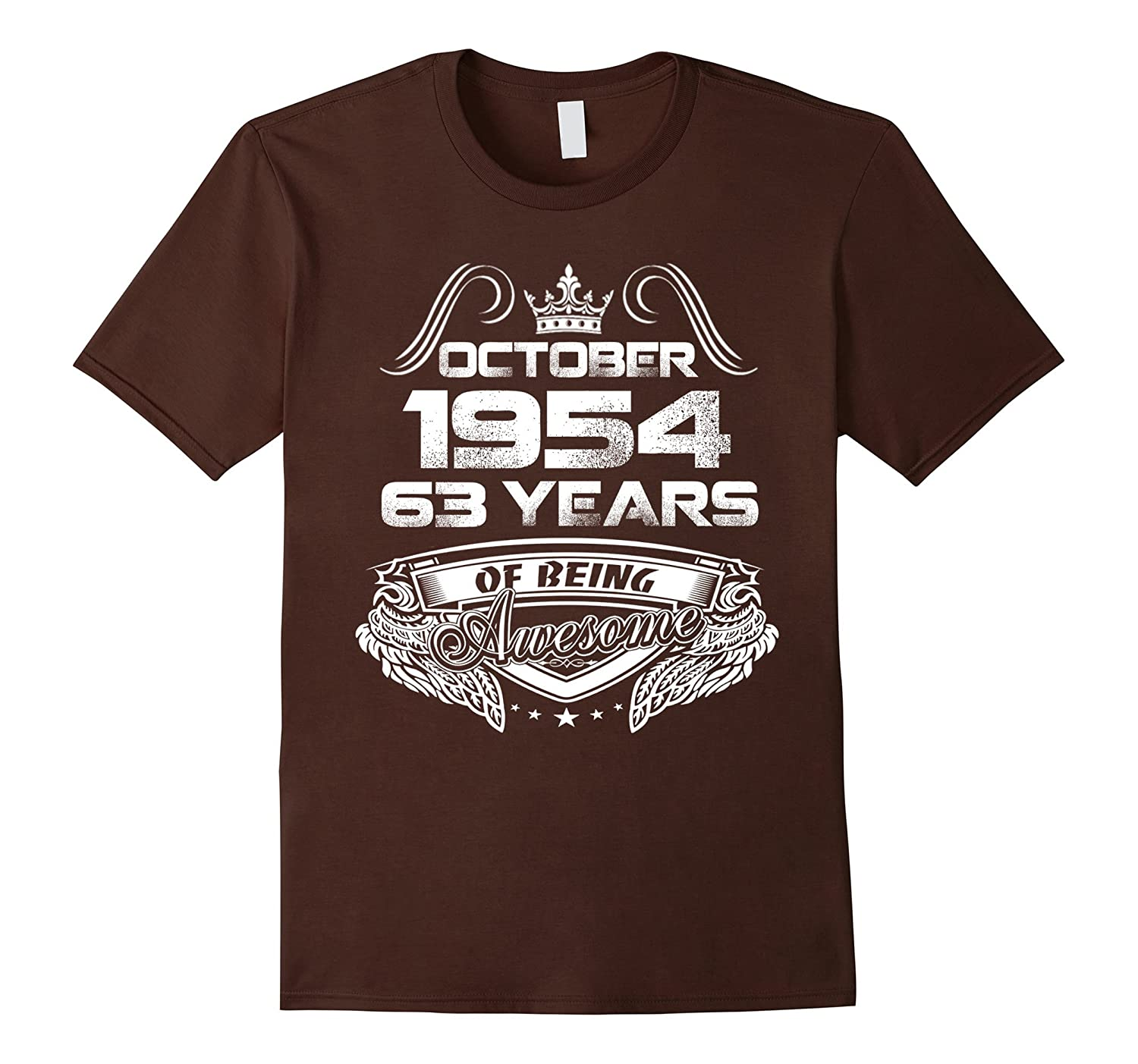 October 1954 63th Birthday Gifts 63 Years Old T-shirt-TJ