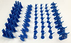 Napoleonic & Civil War Military Miniatures (Blue): Plastic Toy Soldiers Set: Infantry, Cavalry, Artillery, Ships