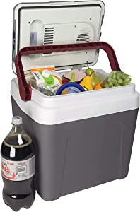 Koolatron Fun Kool Thermoelectric Iceless 12V Electric Cooler Warmer, 24L / 26 Quart Capacity, for Camping, Travel, Truck, SUV, Car, Boat, RV, Trailer, Tailgating, Made in North America