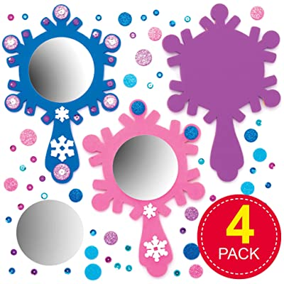 Baker Ross AT174 Snow Princess Mirror Kits, Assorted: Industrial & Scientific
