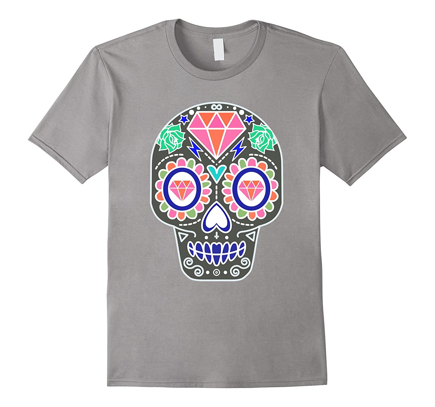 Sugar Skull Calavera Shirt - Pink Diamond Head-FL