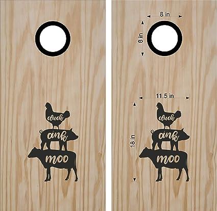 Amazon.com: Pegatinas para pizarra, diseño de vaca de pollo ...