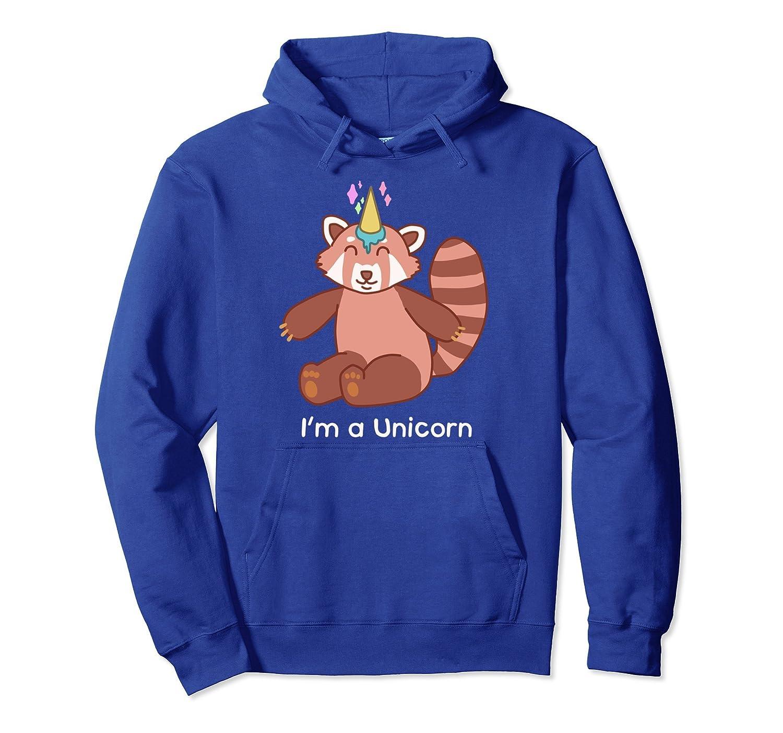 I'm A Unicorn Red Panda Funny Ice Cream Cone Hoodie-alottee gift