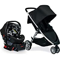 BRITAX B-Lively Travel System with B-Safe Ultra Infant Car Seat| 2 Layer Impact Protection, Cowmooflage (S09828600)