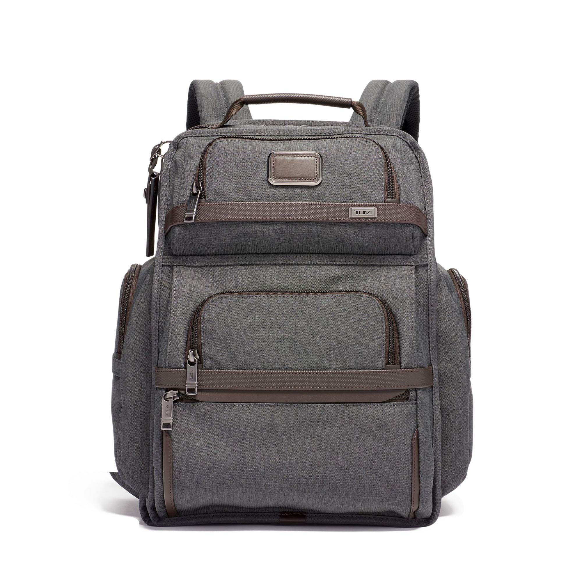 Tumi Men's Alpha Brief Backpack, Anthracite, Grey, One Size
