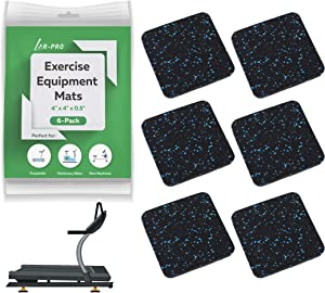AR-PRO Gym Exercise Equipment Mat with Anti-Sliding Floor Grip   Customer Trusted Treadmill Mat and Floor Protectors   Made of Shock Absorbent Recycled Rubber