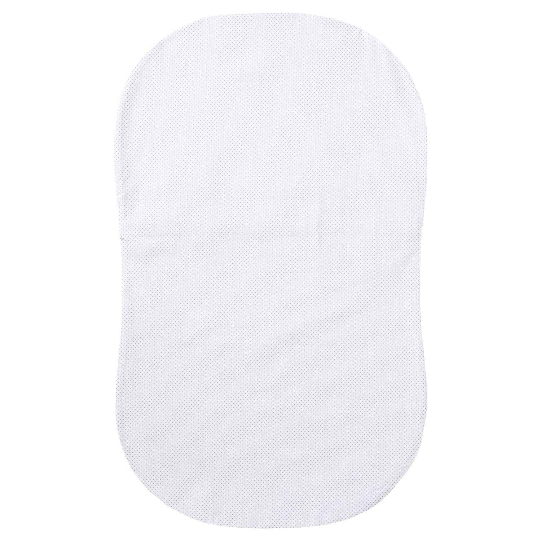 Halo Bassinest Swivel Sleeper Fitted Sheet 100% Cotton, Grey Pin Dot