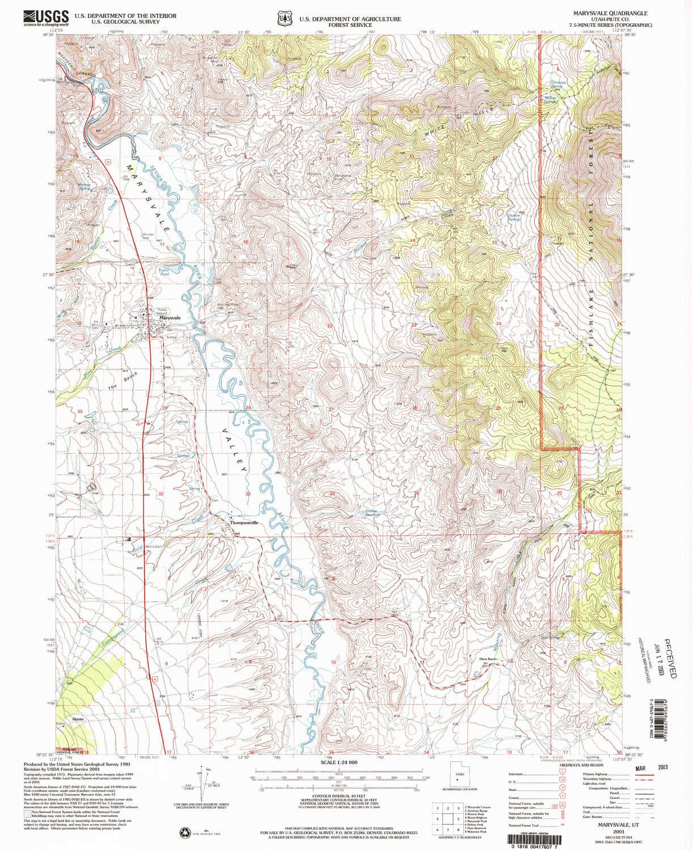 Marysvale Utah Map.Amazon Com Yellowmaps Marysvale Ut Topo Map 1 24000 Scale 7 5 X