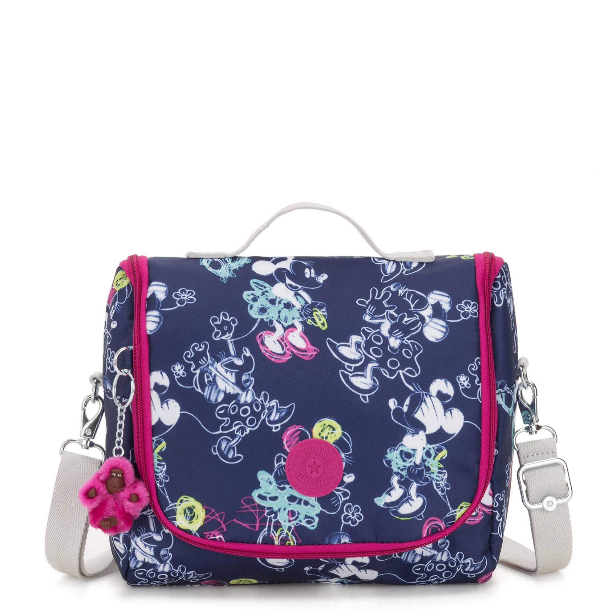 Kipling Disney's Minnie Mouse And Mickey Mouse Kichirou Lunch Bag Doodle Blue