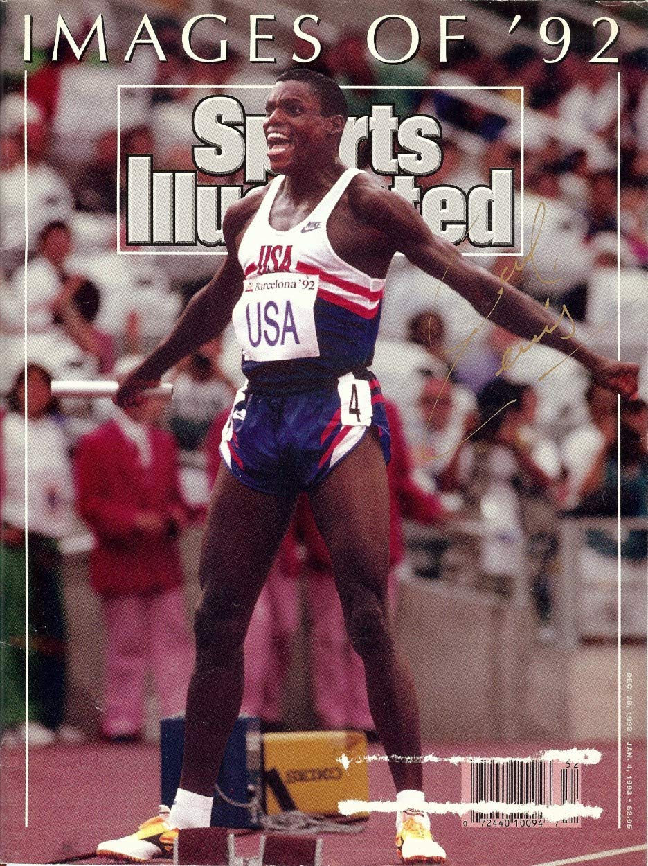 Carl Lewis Autographed 1993 Sports Illustrated Magazine Team USA COA