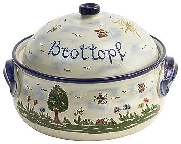 Steingut Keramik vivapollo original brottopf brotkasten keramik westerwälder