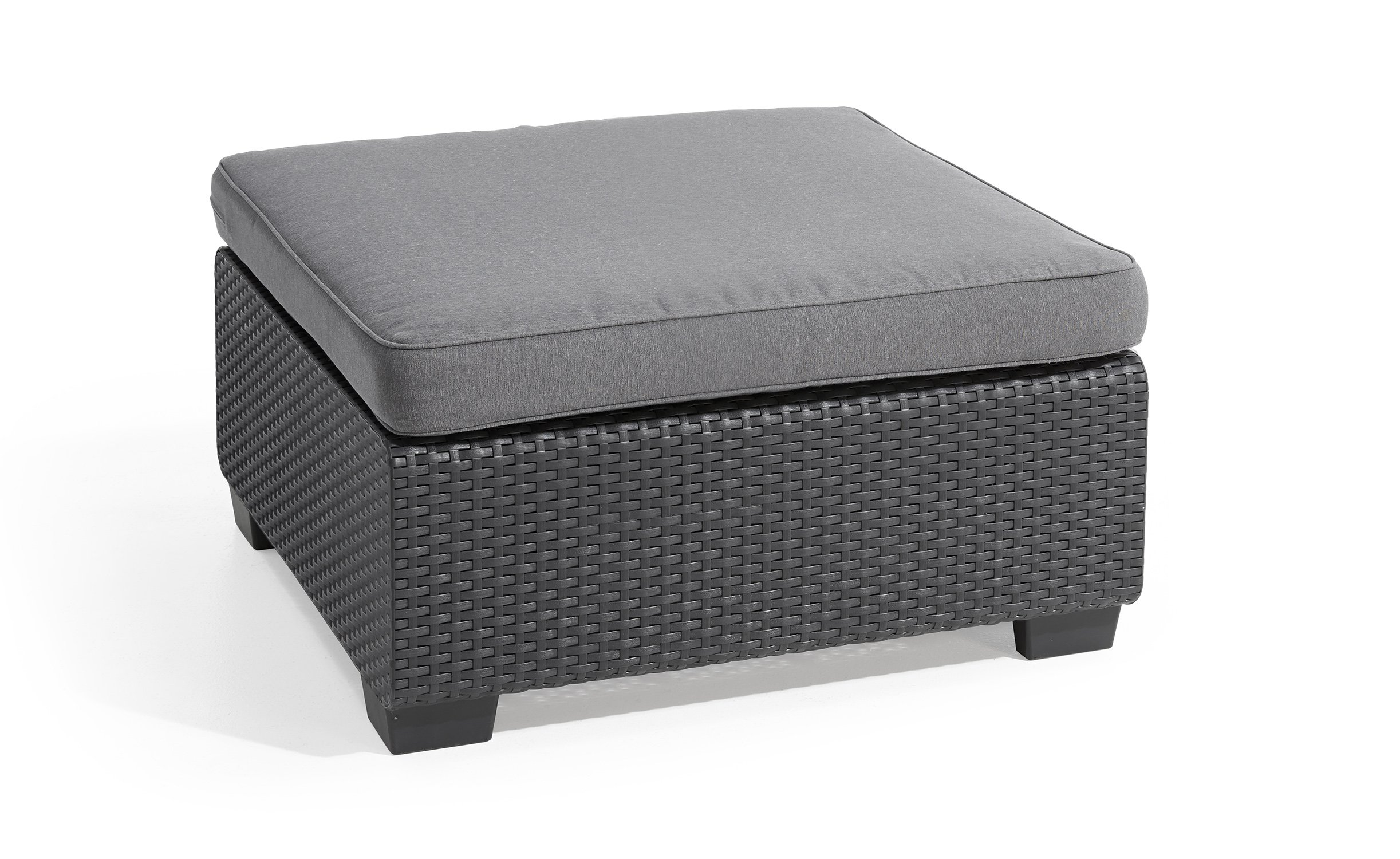 Keter 240145 Sapporo Sunbrella Cushion, Grey Stool, Graphite by Keter