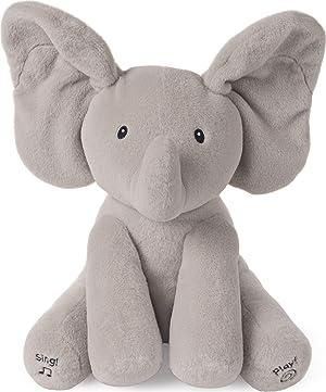 Baby GUND Animated Flappy The Elephant Stuffed Animal Plush, Gray, 12